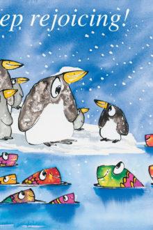 Penguins rejoicing poster