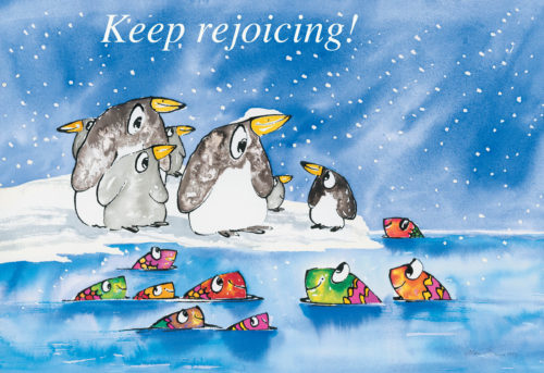 Penguins rejoicing poster