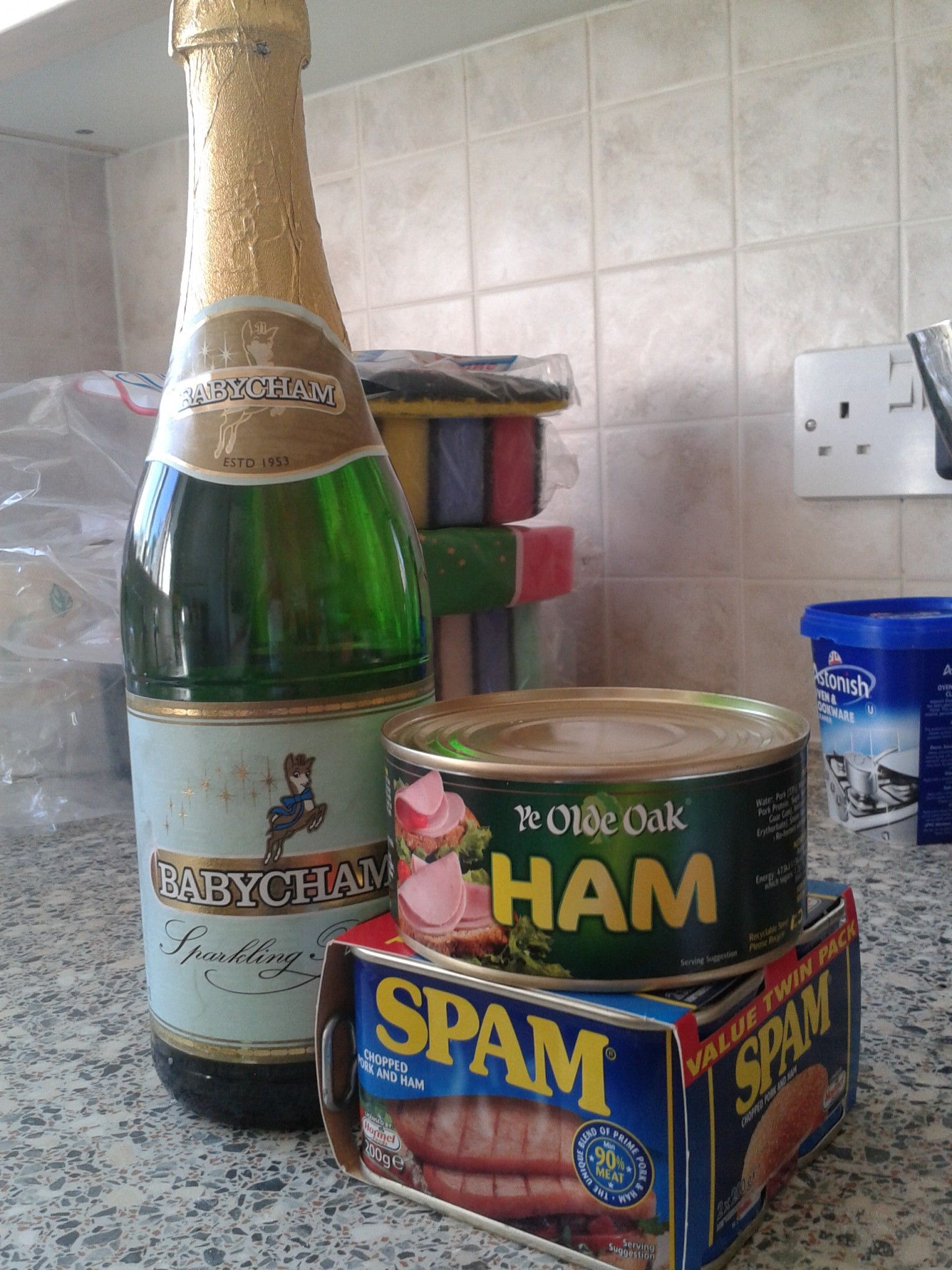spam, ham and babycham
