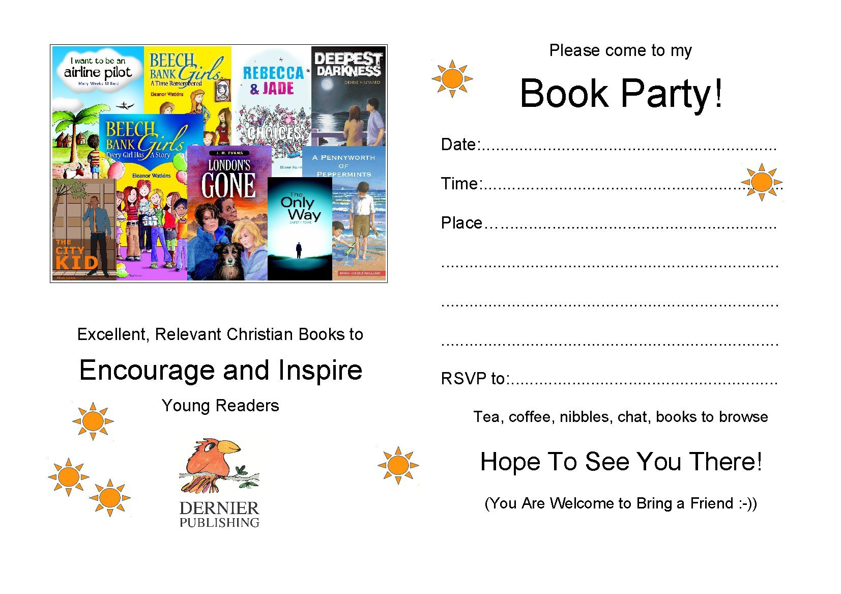 Dernier Publishing book party invite