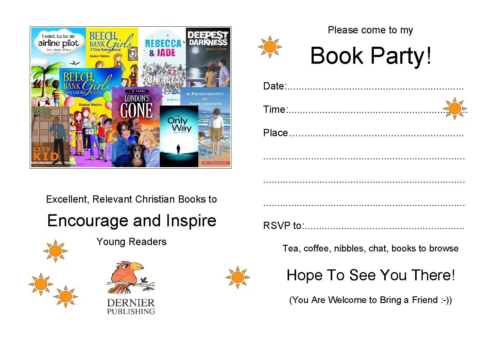 Dernier Publishing book party invite