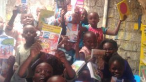 Children reading in Nairobi