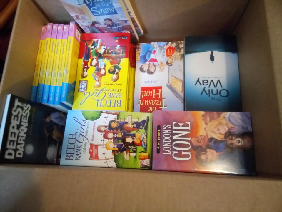 Box of Christian children's books going to Burundi