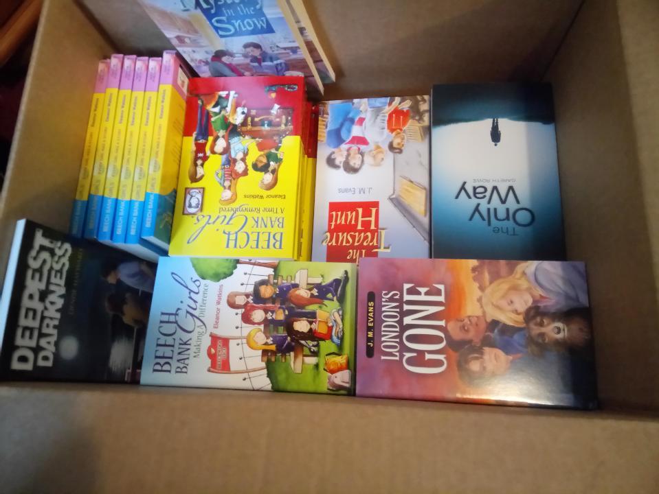 Box of Christian children's books going to Burundi