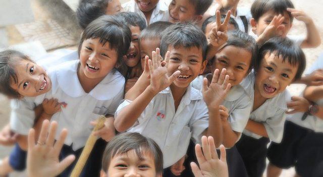 Children laughing